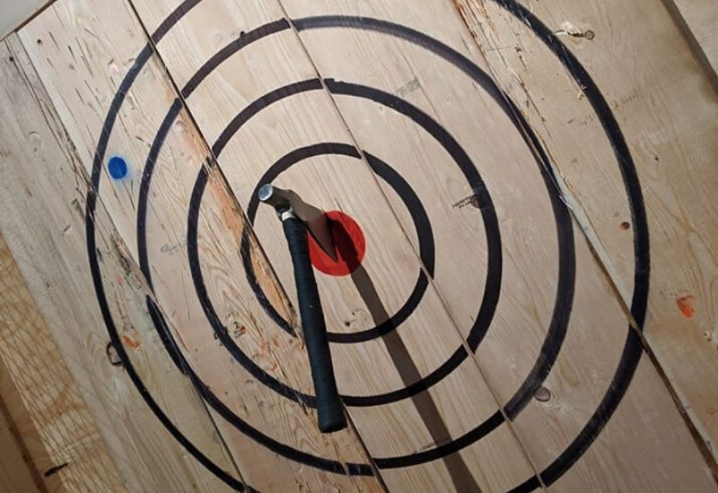 Axe Play - one of the best things to do in Jackson Michigan