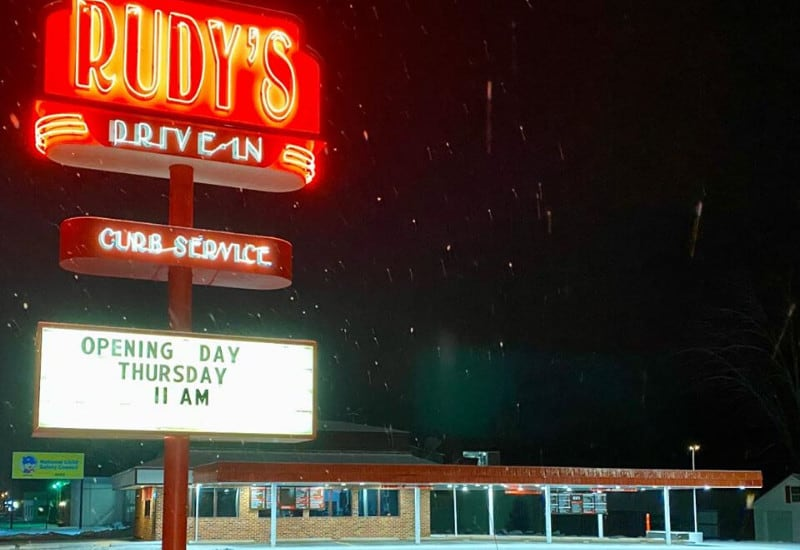 Rudy's Drive-In - one of the best Jackson Michigan restaurants