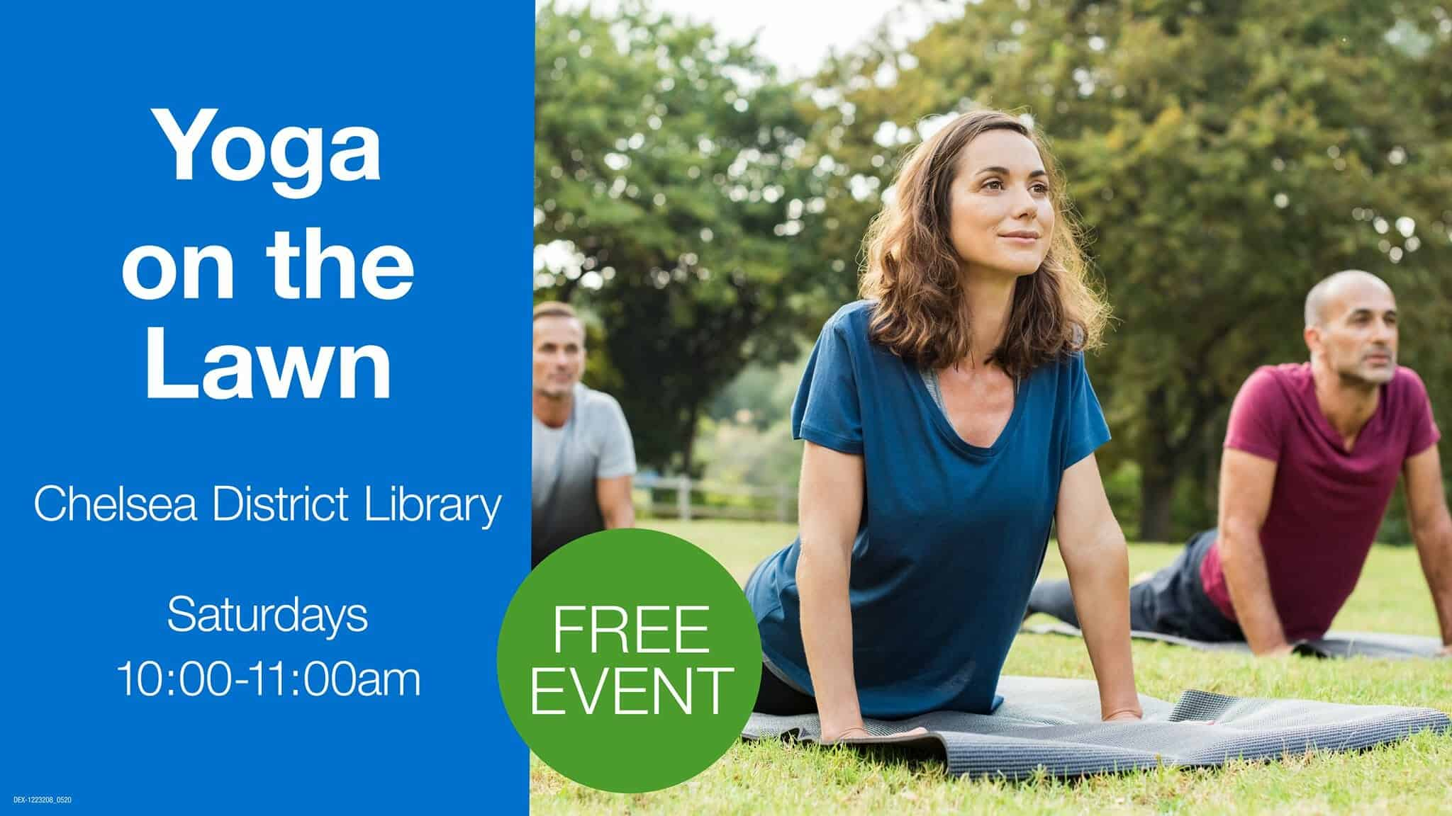 yoga at chelsea district library, chelsea, michigan