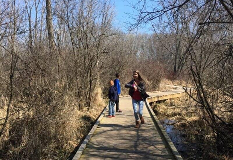 Dahlem Nature Center hiking trails