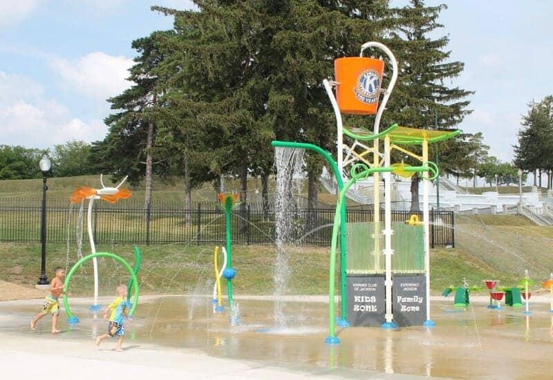 Cascades Park Splash Pad, Jackson, Michigan