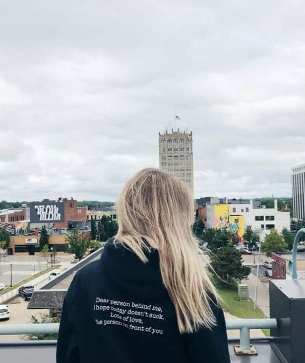 A view from a rooftop in Jackson Michigan
