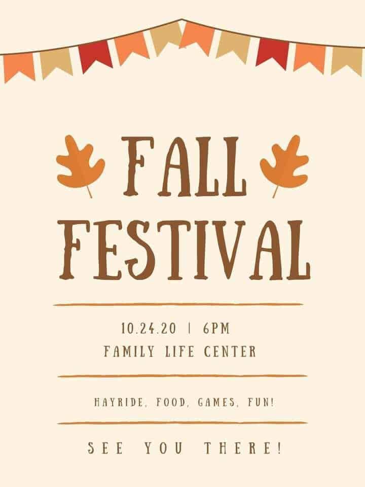 Fall Festival Hilltop Chapel Concord MI