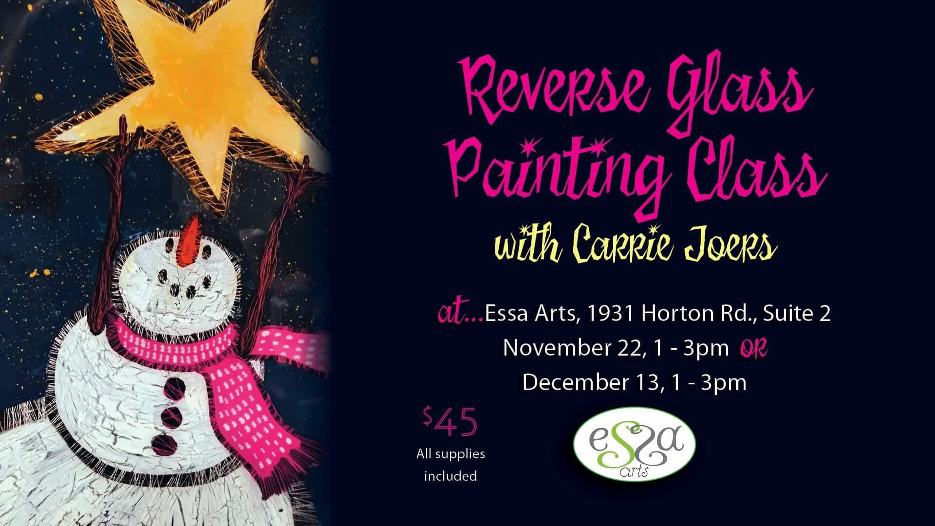 Reverse Glass Painting Class
