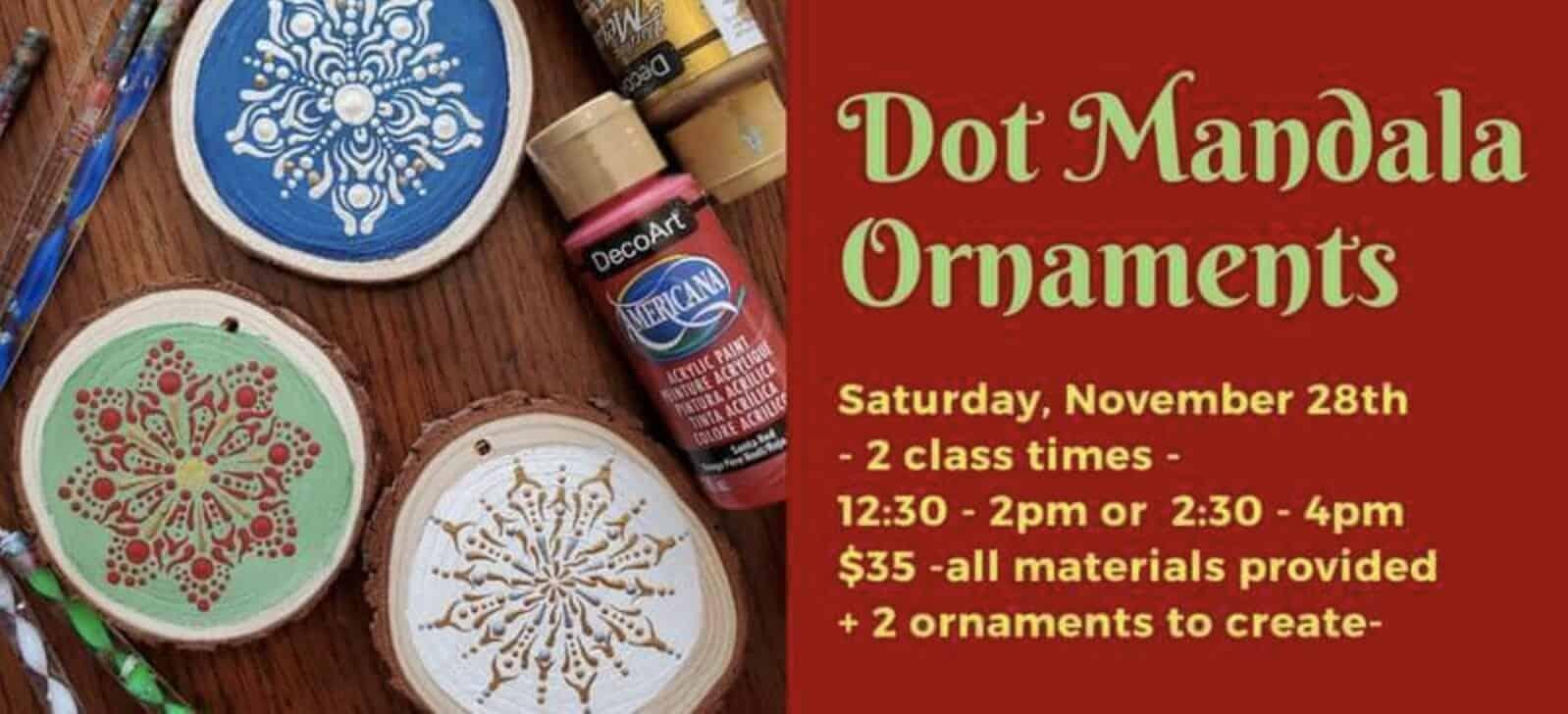 Dot Mandala Ornaments at Essa in Jackson MI