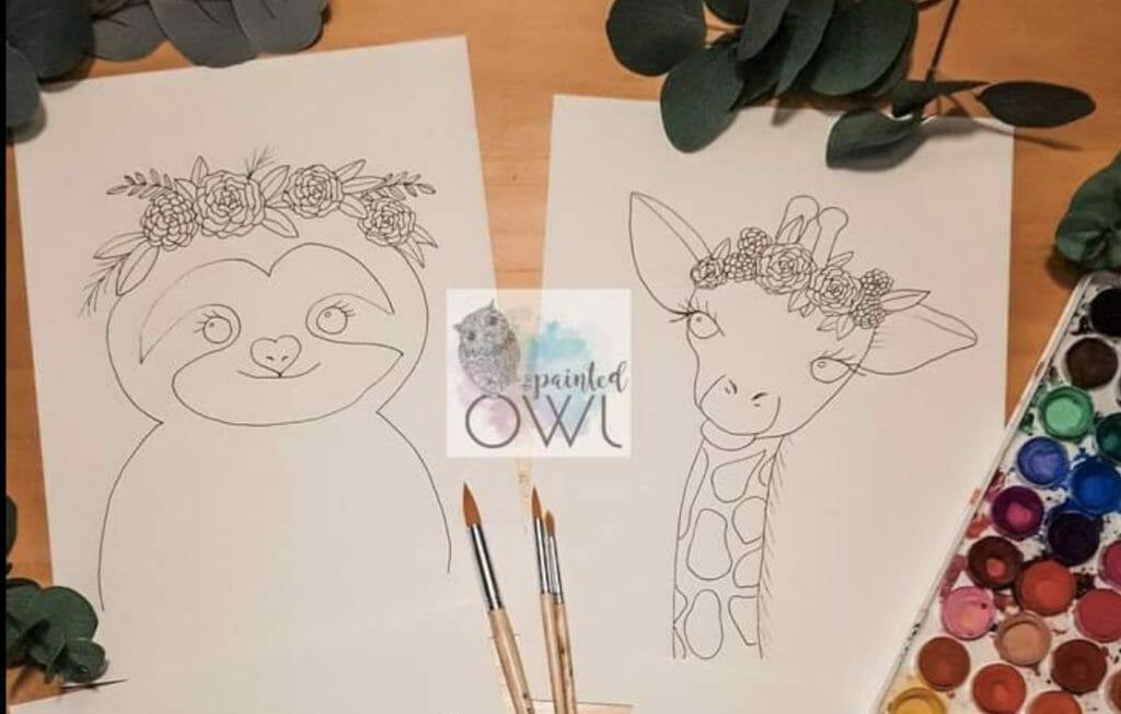 Painted Owl Kids Paint