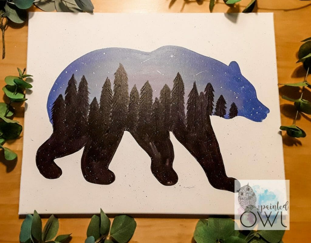 Bear Painting at Painted Owl Jackson County