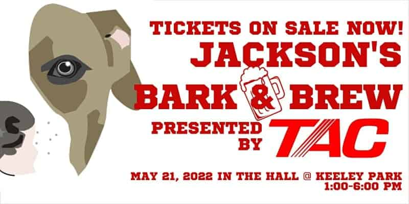 Jackson michigan bark and brew event graphic