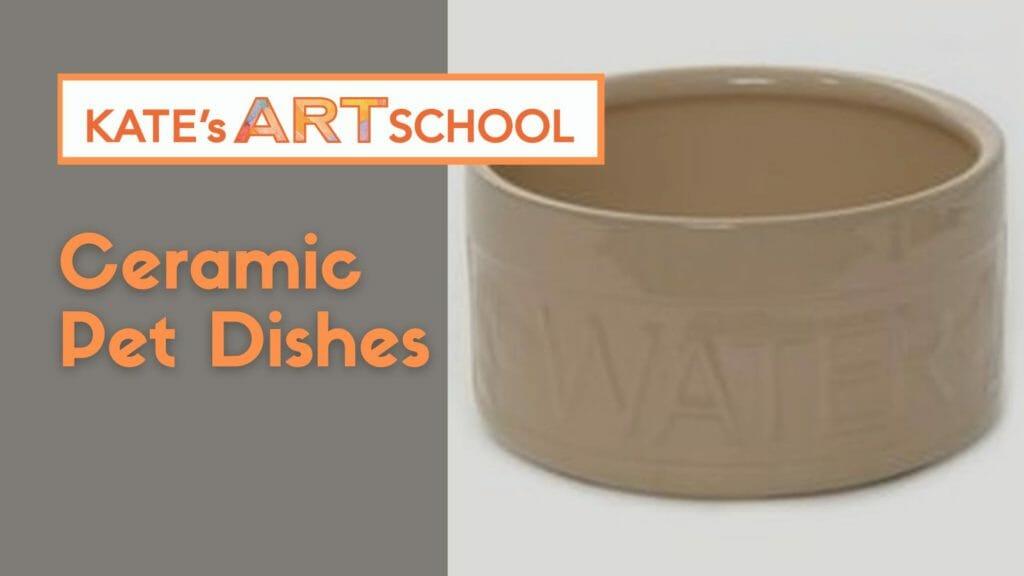 ceramic pet dishes at kate's art school