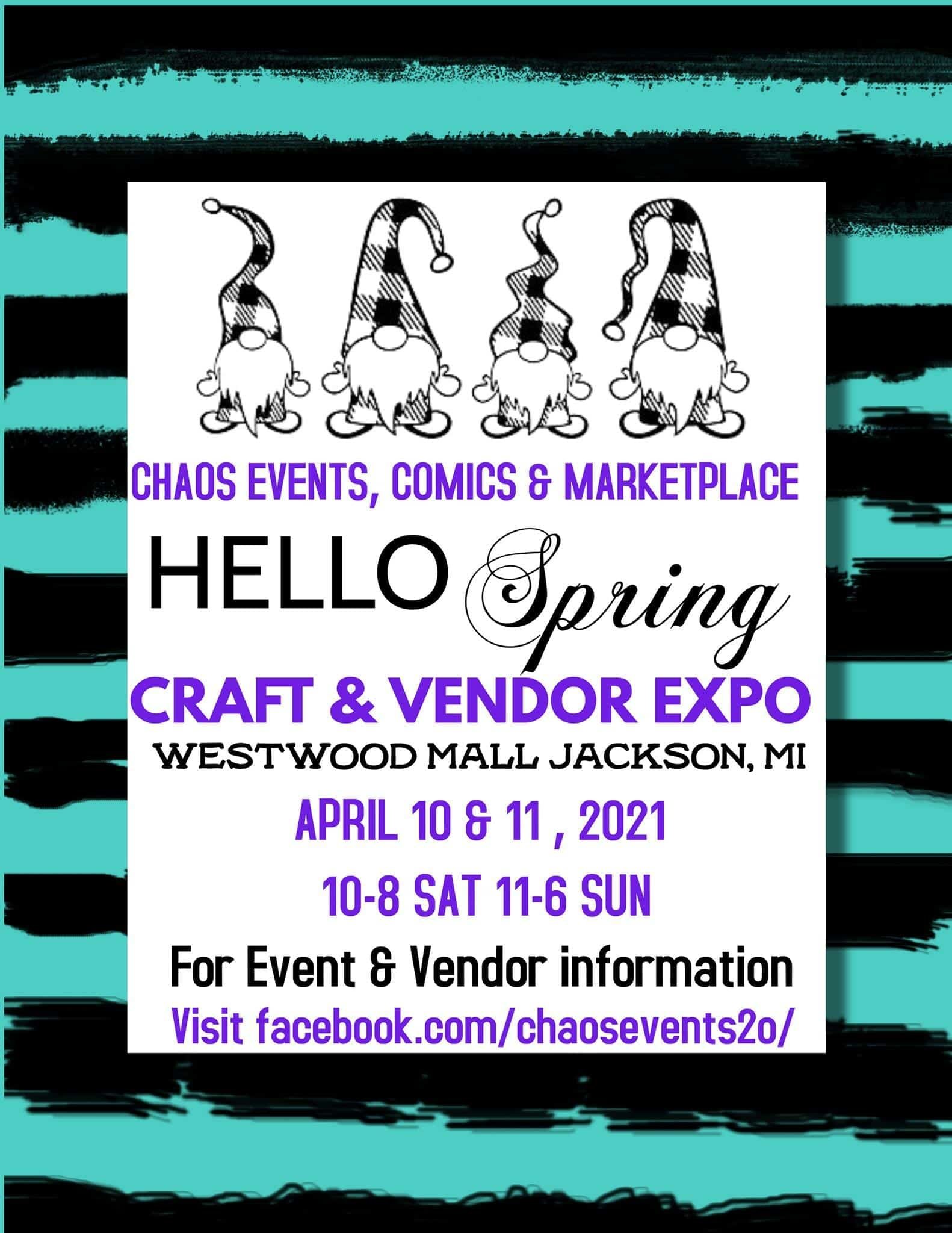 hello spring craft expo graphic