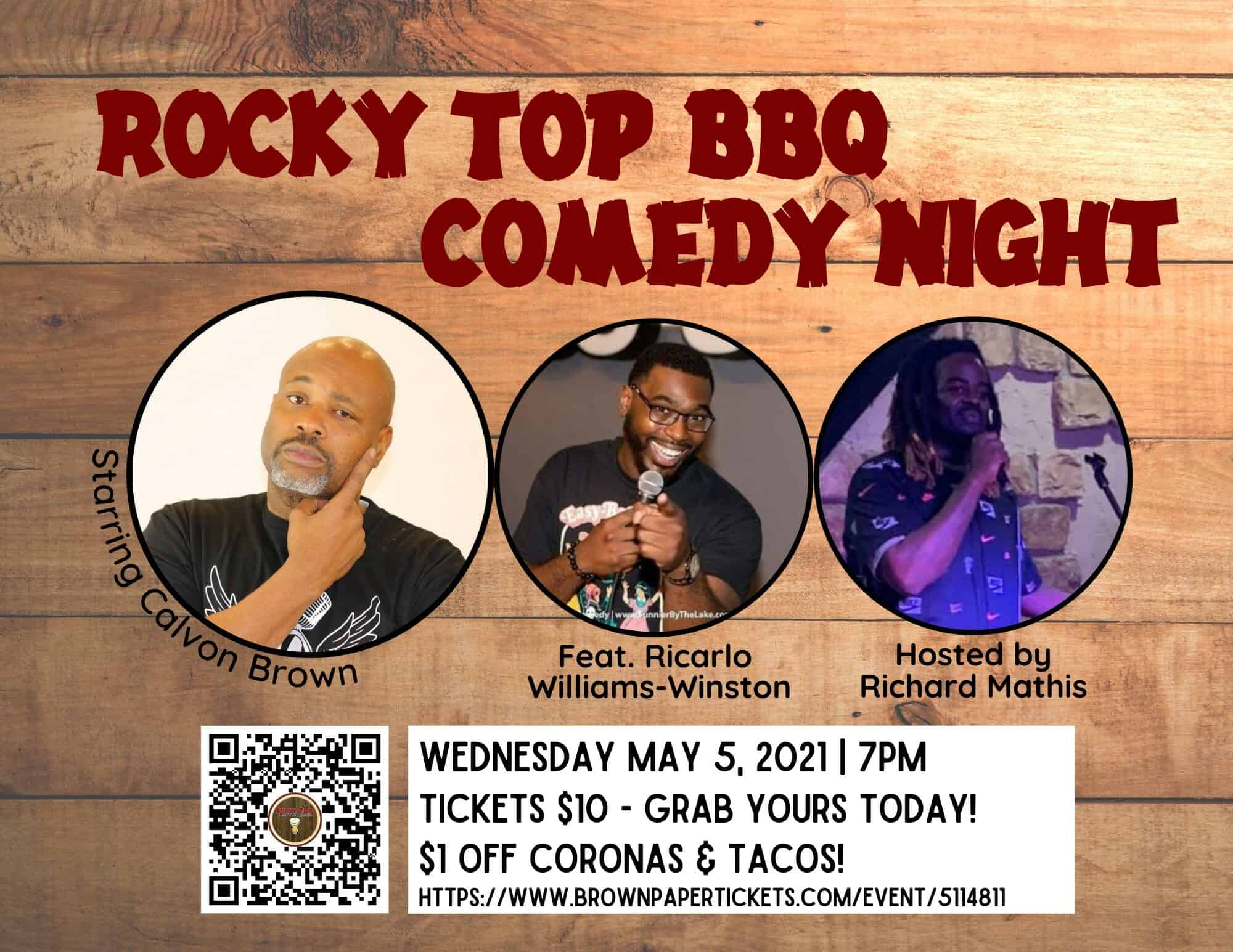 Rocky Top BBQ Comedy Night