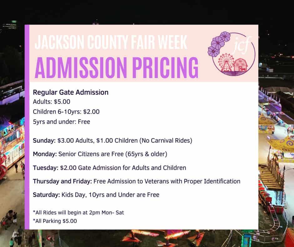 2021 jackson county fair jackson michigan admission prices