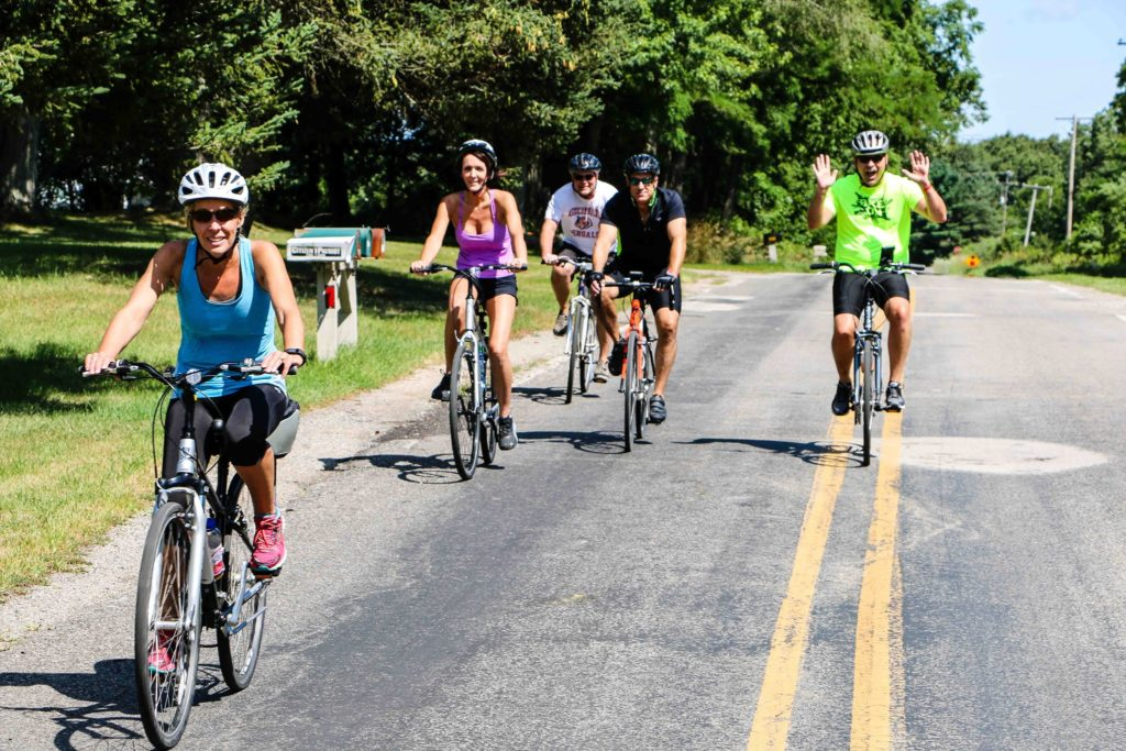 Bikers at Pedal and Whine Bike Tour 2020